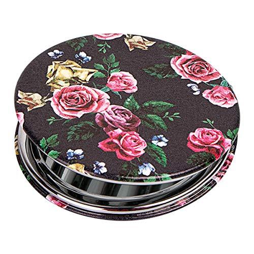 Shidan Tragbarer Taschenspiegel Zweiseitiger Klappbarer Kosmetikspiegel für unterwegs mit 1X / 3X Vergrößerungsspiegel