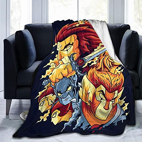 Thundercats Manta Manta de Forro Polar de Franela Ultra Suave Impreso en 3D Colcha de Verano para sofá Cama Sala de Estar 50'x40'