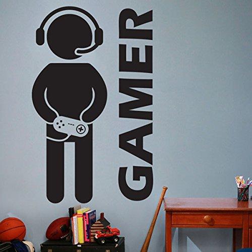 Customwallsdesign Vinilo Adhesivo Pared diseño Gamer