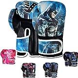 VELO. Guantes de boxeo para niños, guantes para niños, 170 g, 4 onzas, bolsa de entrenamiento de gel Sparring, guantes de boxeo mma, almohadilla de boxeo (6 onzas, Batman)