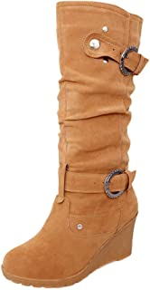 Ankle Boots Chelsea Tan Desert Winter Women Ladies Shoes Horse Riding High Chunky Heel Platform Gothic Insoles Zip (Color : Yellow, Size : 5.5 UK)