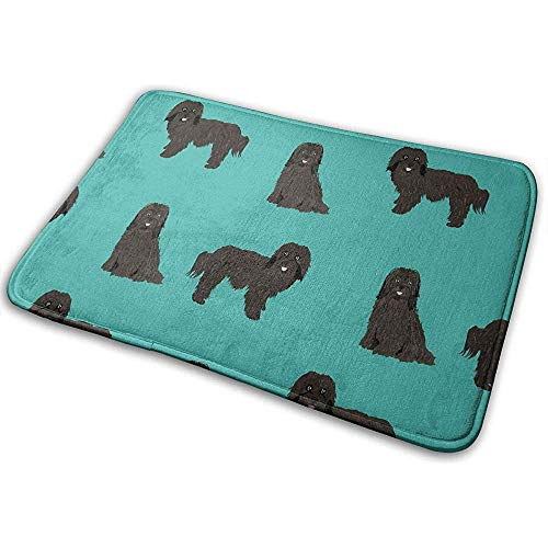 Joe-shop Havanese Hondenmand blauw zwart Tiro op Terra Matte Accent Party Set Outdoor Badkamer voetmat