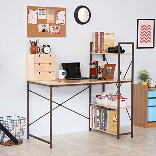 Escritorio De Oficina, Escritorio de Estudio, Escritorio De Juegos con Estantes De Almacenamiento, Fácil De Montar Mesa para PC Mesa De Trabajo para El Home Office