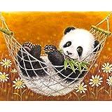 XCxCN 5D-DIY-Diamond Pintura Panda Completo Resto Set Regalo Bordado Punto de Cruz Arte Cristal Rhinestone Imagen decoración de la Pared Diamante Cuadrado sin Marco * 40x50cm