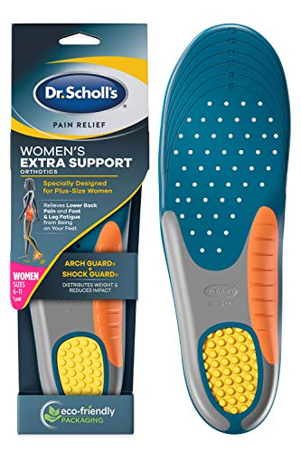 Dr. Scholl's Insoles for Women Extra Support Pain Relief Orthotics Shoe Inserts, Designed for Plus-Size