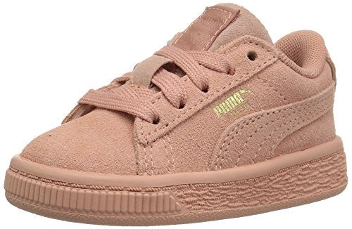 PUMA Baby Suede Classic Tonal Kids Sneaker, Muted Clay, 7 M US Toddler