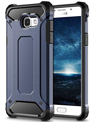 Coolden Samsung Galaxy A5 2017 Hülle, Premium [Armor Serie] Outdoor Stoßfest Schutzhülle Tough Silikon + Hard Bumper Militärstandard Handyhülle für Samsung Galaxy A5 2017(Blau)