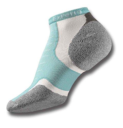 Thorlos Experia XCCU Thin Cushion Running Low Cut Socks, Spearmint, Extra Large