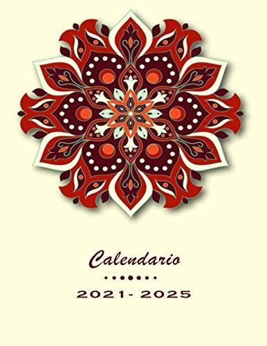 Calendario 2021-2025: Agenda Mensual de 60 Meses, Agenda 2021/2025, Calendario de cinco...