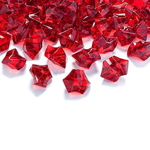 goodymax 50 Kristall-Steine Weinrot 25 mm - EIS Deko Streudeko Diamanten Tischdeko