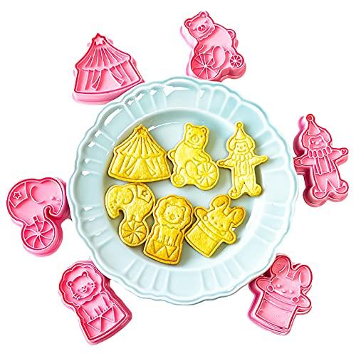 Juego de 6 moldes de galletas GS, 3D, molde de galletas, molde de galletas, molde de Pascua, molde de galletas de Navidad, molde de plástico para niños
