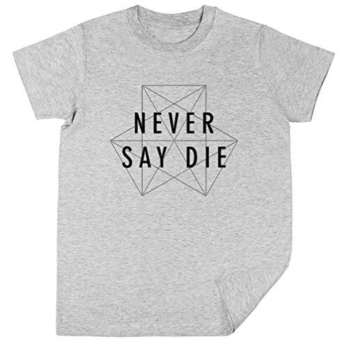 Dubstep Never Say Die Kinder Unisex Jungen Mädchen Grau T-Shirt Kids Unisex T-Shirt