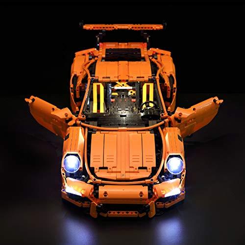 Technic Porsche 911 GT3 RS Led Beleuchtungsset - Kompatibel Mit Lego 42056 Bausteinen Modell - (Modell Nicht Enthalten)