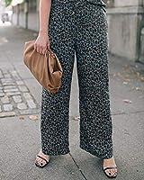 The Drop Pantalones para Mujer sin Cierre con Abertura Lateral, Estampado Animal Gris, por @graceatwood,S