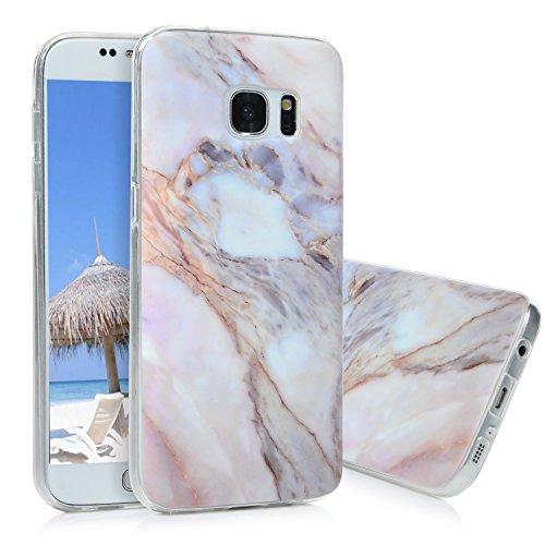 Kasos S7 Marmor Hülle, Marble Handyhülle : Silikon Case Weich TPU Huelle mit IMD Technologie für Samsung Galaxy S7, Jade