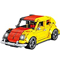 KCGNBQING ベンツ1931スポーツカー、492ピースカスタムテクニックカーレースカーキット、レゴテクノロジーと互換性のあるカスタムテクニックカーレーシングカーキットのテクニックビルディングブロック ビルディングブロック/レゴ/パズルアセンブリ (Color : Volkswagen Beetle)