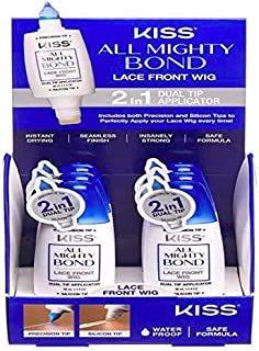 Kiss All Mighty Bond 2 in 1 Dual Tip applicator with Silicon Tip for Lace Front Wig 1each