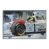 Yoopa Ayrton Senna Sport Art Poster Leinwand Malerei Druck