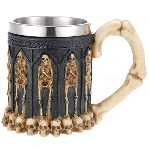 Taza, copa de vino de calavera, calavera de resina, regalos personalizados, decoración del hogar, vasos de cerveza