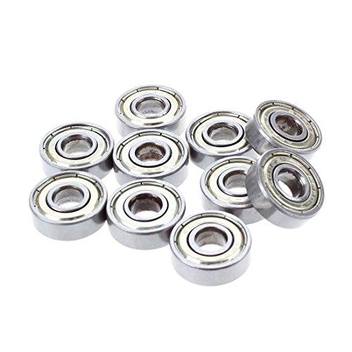 TOOGOO 10 Stk. Kugellager miniatur Rillenkugellager 608 ZZ 8 x 22 x 7mm Bearing Stahl