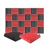 Arrowzoom 24 Acoustic Panels Wedge Sound Absorbing Acoustic Treatment Decorative Tiles 25x25x5cm...