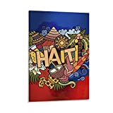 JUYT Haiti Hand Lettering Elements Symbole Poster