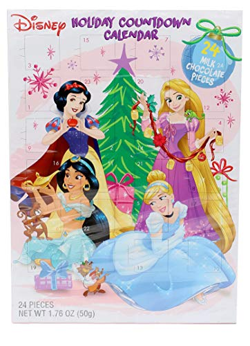 2019 Disney Princess Milk Chocolate Christmas Advent Countdown Calendar, 1.76 oz