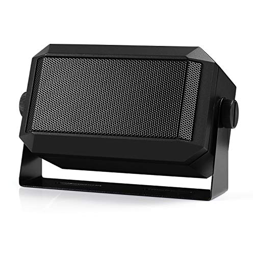 "Radioddity CB Mobile Radio External Speaker, Mini Universal Portable 5W, 71"" Power Cable, for Car Truck Vehicle 4 x 4, Compatible with Radioddity CB-27 Icom ID-5100 Yaesu FT-891 Midland MXT115"