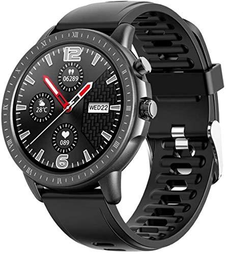 TYUI Reloj deportivo inteligente de 1.3 pulgadas con pantalla redonda completa IP67, resistente al agua, con monitor de frecuencia cardíaca