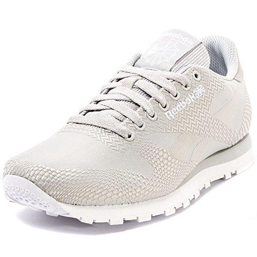 Reebok Classic Runner Jacquard Mens Leather & Textile Trainers Steel - 44.5 EU