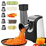 Electric Cheese Grater, 150W Electric Slicer Shredder Greaters Chopper for Vegetables, Professional...