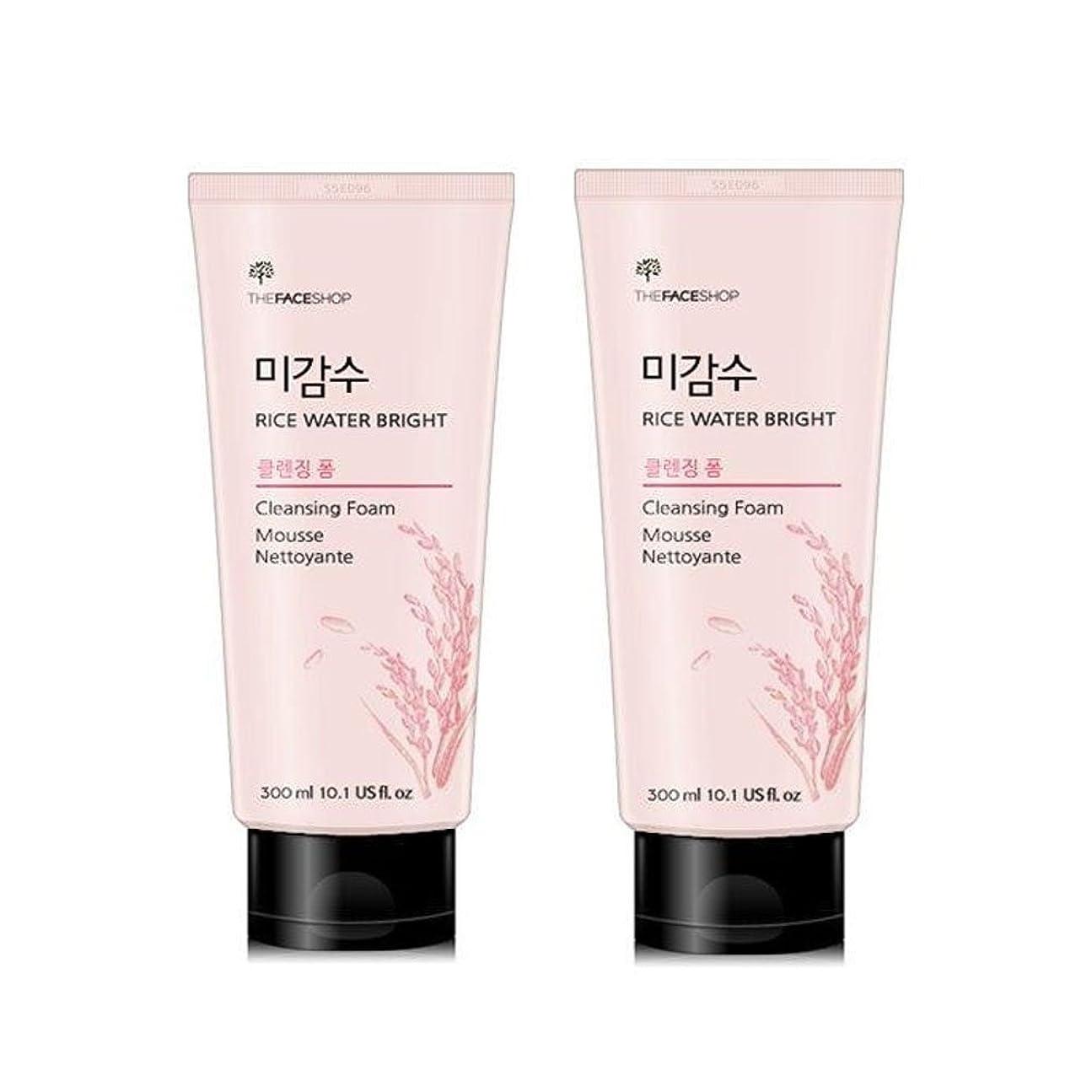 したい階下妖精ザ?フェイスショップ米感水ブライトクレンジングフォーム300ml x 2本セット韓国コスメ、The Face Shop Rice Water Bright Cleansing Foam 300ml x 2ea Set Korean Cosmetics [並行輸入品]