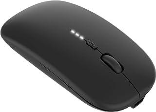 ワイヤレスマウス 静音 薄型 無線マウス 充電式 3DPIモード 2.4GHz 光学式 高感度 type-C変換アダプタ付属 USB Windows Mac対応 TELEC認証取得済み