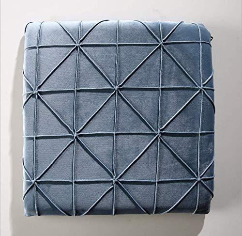 DUIPENGFEI Thickened memory cotton cushion, beautiful hip cushion, office Bench Cushion, chair cushion, bay window cushion, blue gray, 40 * 40cm