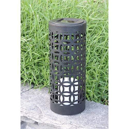 Mundus Laterne Solar Otto aus Metall und Kunststoff Ø 10x H24cm–schwarz