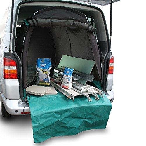 achilles Kofferraum-Schutz mit Stoßstangen-Kratzschutz-Matte für Bus T5 oder Transporter Ladekanten-Schutz Handwerker Innenraum-Schondecke Schutz-Wanne Braun 240x125x130cm