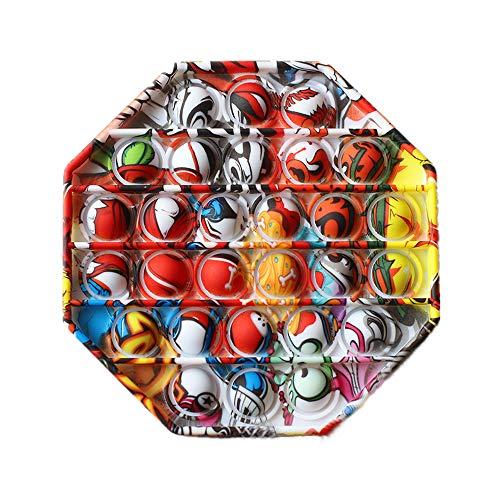 Ousyaah Sensorial Fidget Juguete, Push and Pop Bubble Sensory Toy, Arco Iris Figit Toy Autismo Necesidades Especiales Aliviador del Antiestrés del Juguetes Juguetes educativos