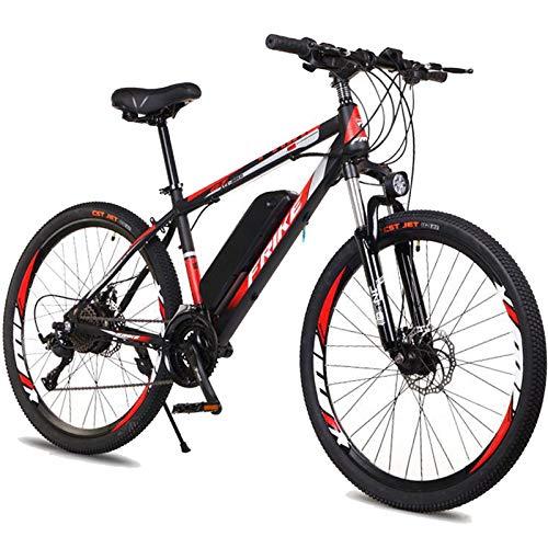 Bicicleta eléctrica 26 '', E-bici 35 km / h bicicleta eléctrica, 250W adultos bicicleta eléctrica de montaña con batería extraíble, Profesional 27 Engranajes velocidad, para las mujeres de los hombres