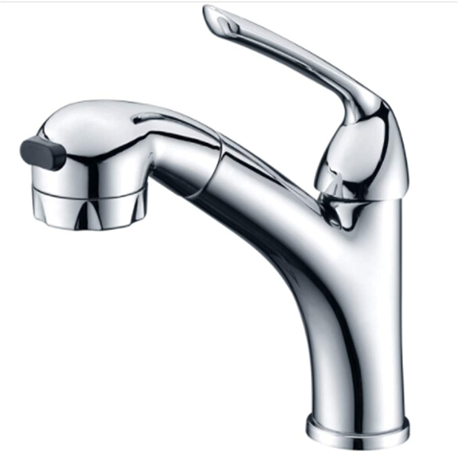 Kitchen Faucet Tapstainless Steelkitchen Faucet Prowashbasin Faucet, All Copper Hot and Cold Water Nozzle, Hand Basin, Draw Water Faucet.