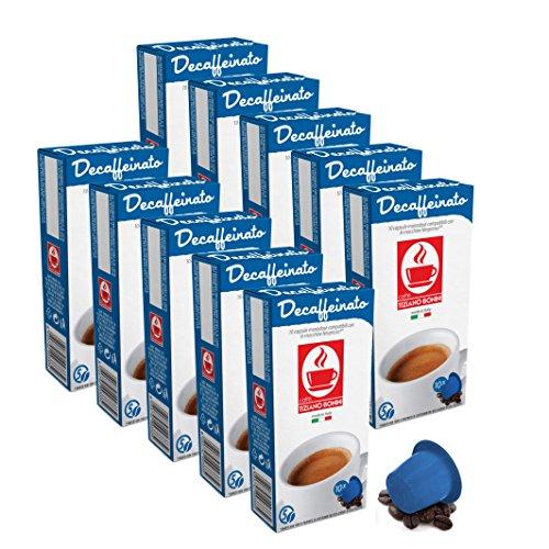 100 Kaffee Kapseln Nespresso kompatibel - Decaffeinato entkoffeiniert (10 x 10 Kapseln je 5.5 g) von Bonini