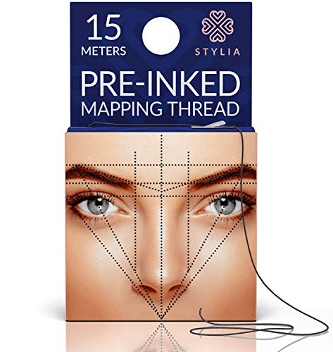 Microblading Supplies Pre-Inked Eyebrow Mapping String – 15 Meters - Ultra-Thin, Mess-Free Thread, Create a Crisp, Spot-on Brow Map Every Time – Hypoallergenic, Cosmetic Grade For Permanent Makeup