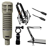Electro-Voice RE20 Microphone Kit with Shockmount, Two-Section Broadcast...