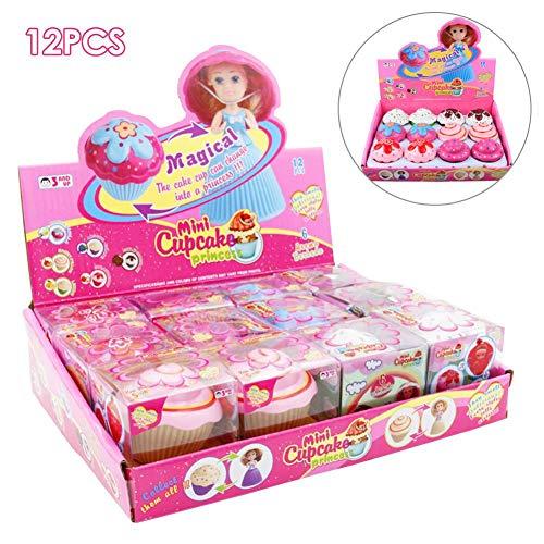 12 Stücke Cupcake Surprise Puppe Spielzeug uberraschung Puppe Prinzessin Überraschung Duftenden Surprise Magische Geschenk Spielzeug 3 Jahre Und Älter 24x6x18.5CM