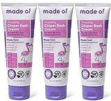 Organic Diaper Rash Cream by MADE OF – NSF Organic Baby Diaper Cream with Avocado Oil & Argan Oil (Fragrance Free, 3.4oz) – Zinc Oxide Ointment and Butt Paste for Sensitive Skin & Eczema Rash (3-Pack)