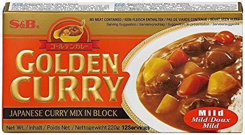 S&B Golden Curry mild – Japanische Gewürzmischung zur Zubereitung von Curry-Gerichten – 220 g