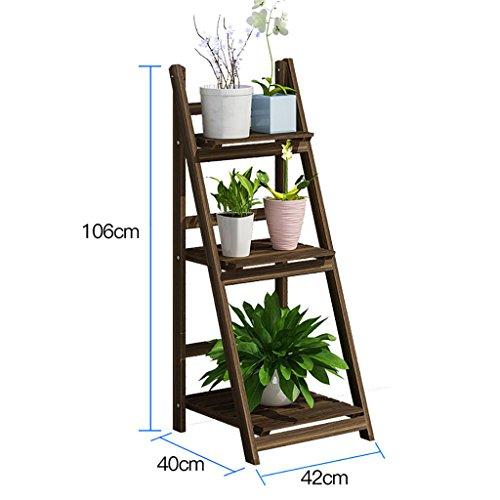 Antiseptique, bois, fleur, stand Porte-fleurs en bois/étagère intérieure et extérieure/plancher multi-plancher échelle/étagère pliante/étagère fleur Capacité d'appui élevée (taille : 106 * 40 * 42cm)