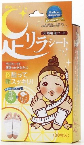 Foot Care 30 Pieces of Leg Lira Sheet Grapefruit Japan