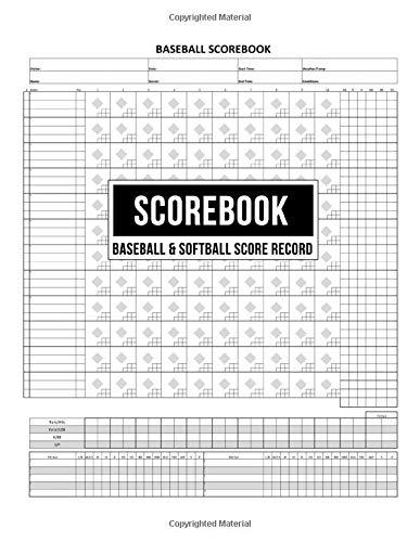 Scorebook Baseball & Softball Score Record: 100 Scoring Sheets For Baseball and Softball Games Plus Note Pages (Score Sheet)