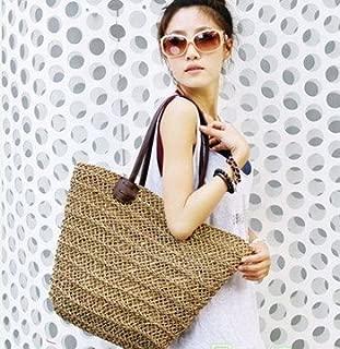 HYLong Ecosusi 2014 package hollow straw bags lady beach handbags women summer shoulder bag (Color: Brown)
