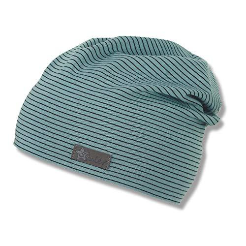 Sterntaler Unisex Baby Slouch 1512100 Beanie-Mütze, Türkis, 45